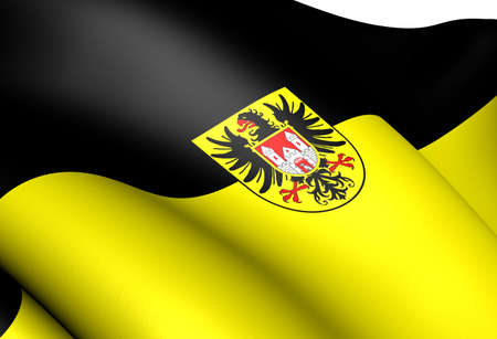Flag of Quedlinburg, Germany. Close Up.    Stock Photo - 12396992