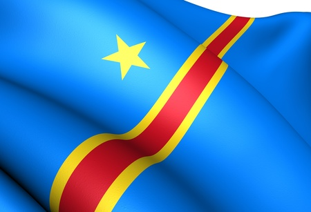 central african republic: Democratic Republic of the Congo Flag. Close Up.  Stock Photo