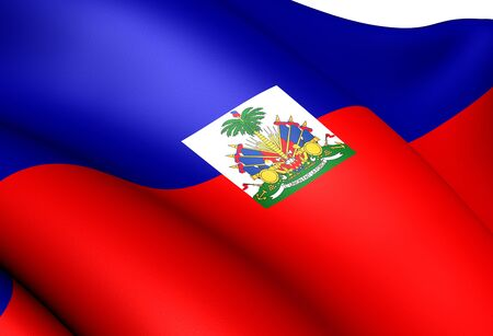 republique: Flag of Haiti. Close Up.