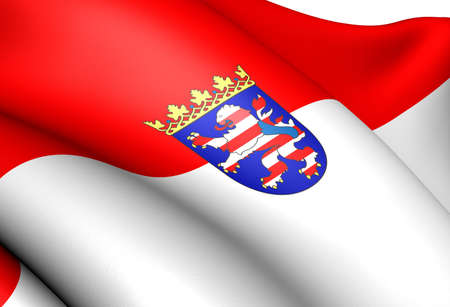 hessen: Flag of Hessen, Germany. Close Up.