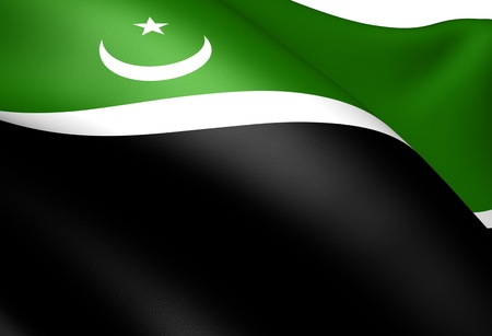 islamabad: Islamabad Capital Territory Flag, Pakistan. Close Up.