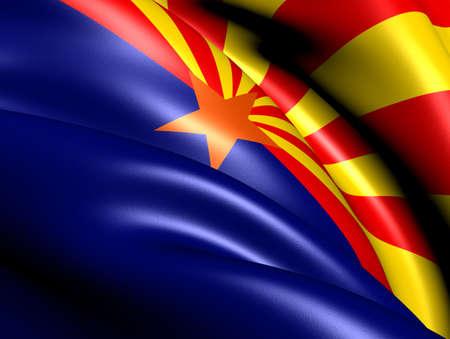 Flag of Arizona, USA. Close Up.   photo
