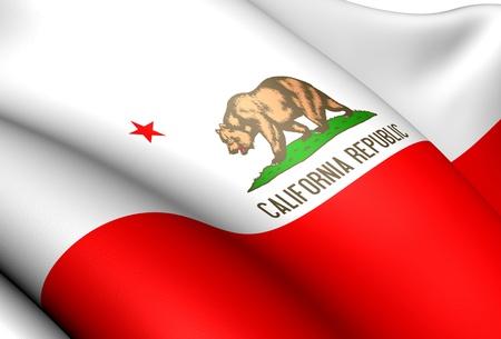 Flag of California, USA. Close Up.