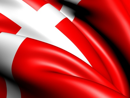 Flag of Denmark. Close Up.    photo