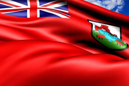 bermuda: Flag of Bermuda. Close Up.  Stock Photo