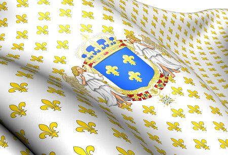 standard: Kingdom of France Royal Standard. Close Up.