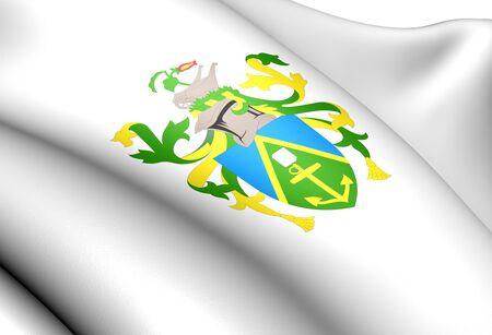 pitcairn: Pitcairn Islands Coat of Arms. Close Up.