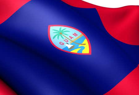 unincorporated: Flag of Guam. Close Up.  Stock Photo