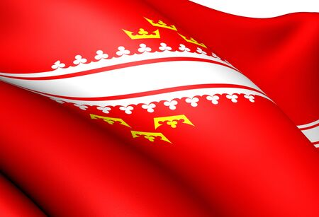 Flag of Alsace, France. Close Up.    photo