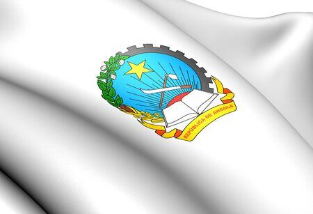 ngola: Angola Coat of Arms. Close Up.