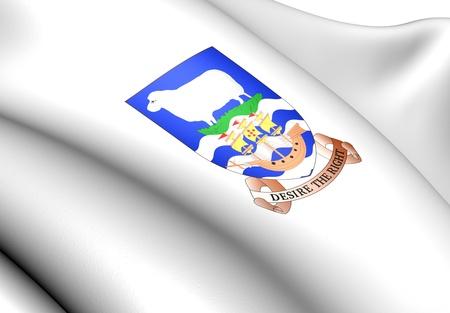 brutish: Falkland Islands Coat of Arms. Close Up.  Stock Photo