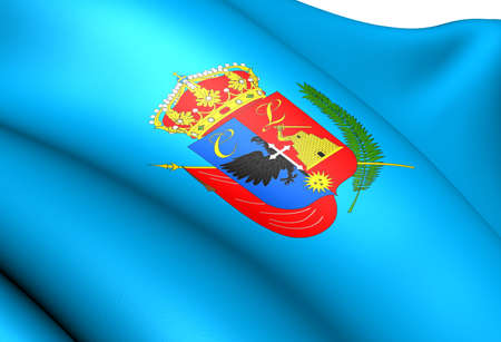 Bandera de Cajamarca, Per�. Close Up. photo