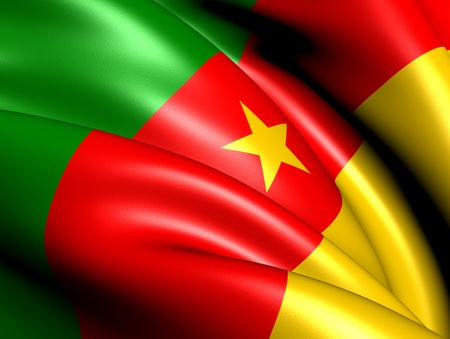 Flag of Cameroon. Close Up. Stock Photo - 12771248