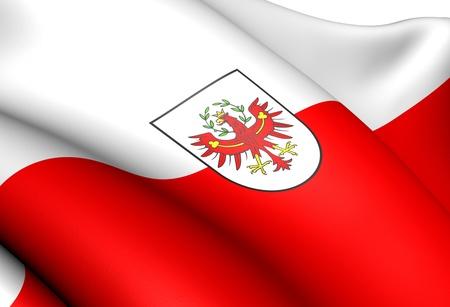Flag of Tyrol, Austria. Close Up.