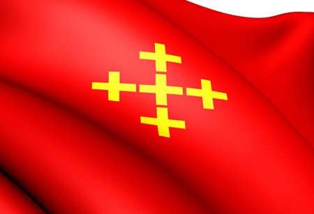 Flag of Valle, Norway. Close Up.  Stock Photo - 12816829