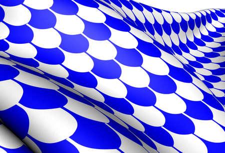 Flag of Oystre Slidre, Norway. Close Up.  photo