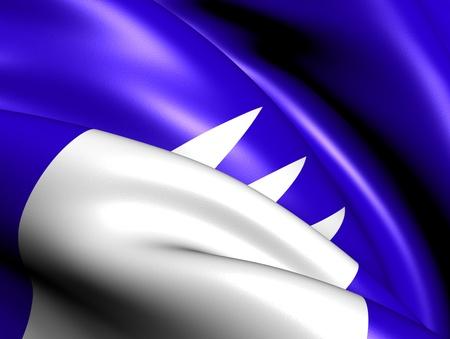 Flag of Rauma, Norway. Close Up. Stock Photo - 13028375