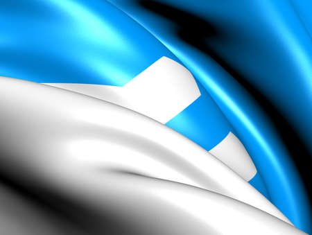 Flag of Sogne, Norway. Close Up.  photo