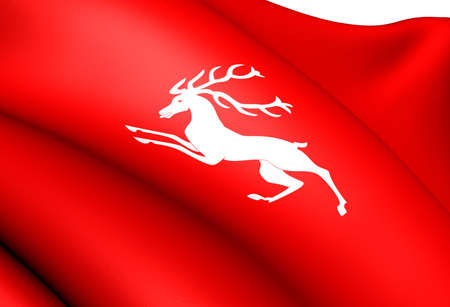 Flag of Voss, Norway. Close Up.  photo