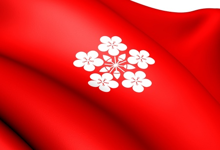 lier: Flag of Lier, Norway. Close Up.