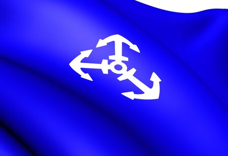 Flag of Lillesand, Norway. Close Up. Stock Photo - 13071036