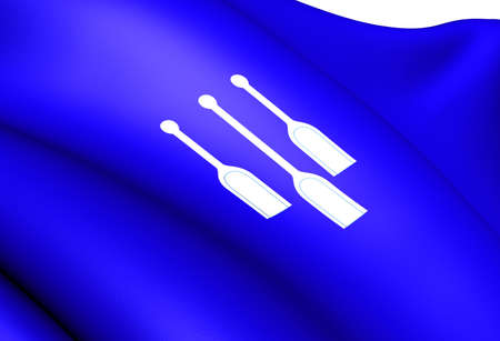 Flag of Lom, Norway. Close Up.  Stock Photo - 13071044