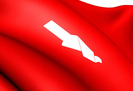 Flag of Meland, Norway. Close Up.  photo