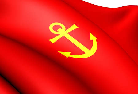 Flag of Narvik, Norway. Close Up.  photo