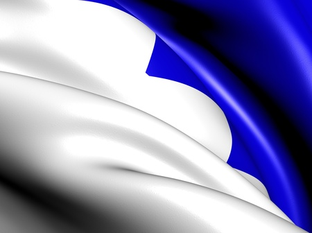 Flag of Naustdal, Norway. Close Up. Stock Photo - 13071102