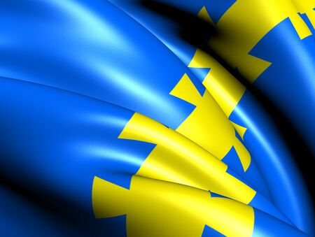 Flag of Stordal, Norway. Close Up.  Stock Photo - 13071252