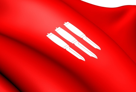 Flag of Gjerstad, Norway. Close Up. Stock Photo - 13195864