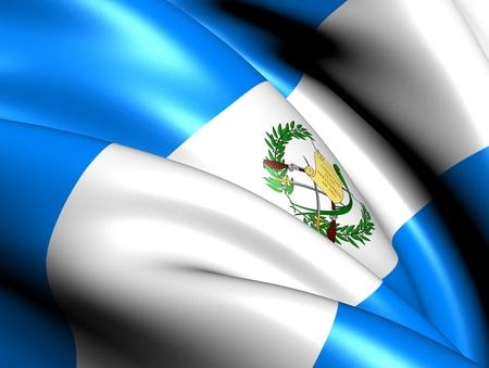 Flag of Guatemala. Close Up.  photo