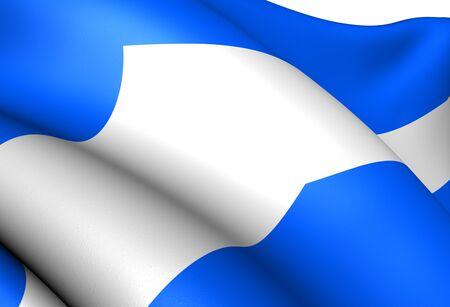 Flag of Gratangen, Norway. Close Up.  photo
