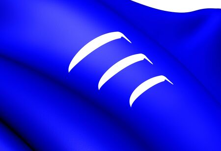 Flag of Hornindal, Norway. Close Up.