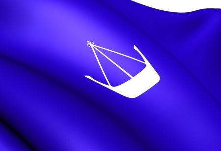 Flag of Hvaler, Norway. Close Up.  photo