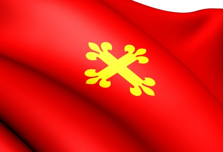 Flag of Jolster, Norway. Close Up.  photo