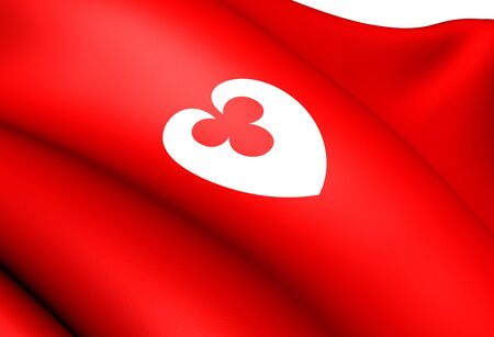 Flag of Bomlo, Norway. Close Up.  Stock Photo - 13271140