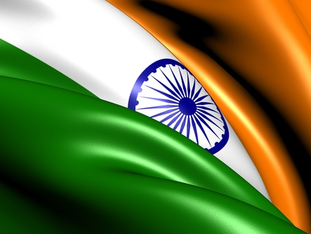 southern indian: Flag of India. Close Up.