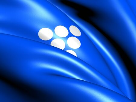 Flag of Bokn, Norway. Close Up. Stock Photo - 13303529