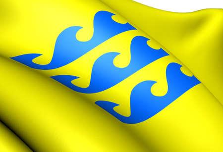 Flag of Fraena, Norway. Close Up.  photo