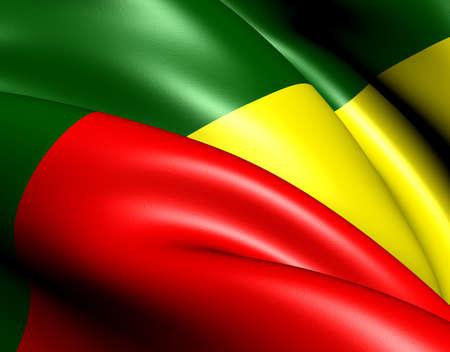 Flag of Benin. Close Up.    photo