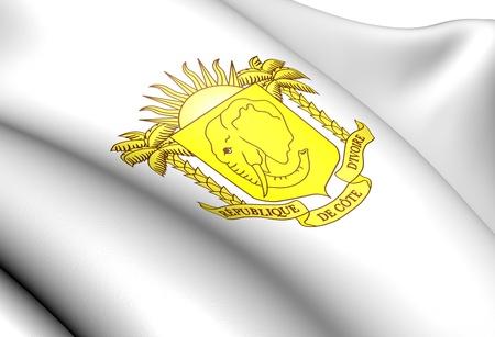 ivory: Cote dIvoire Coat of Arms. Close Up.