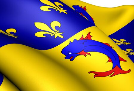 Flag of Dauphine, France. Close Up. Stock Photo - 13334048