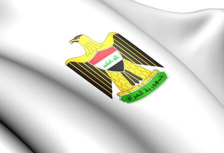 Iraq Coat of Arms. Close Up.    photo