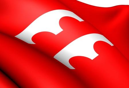 Flag of Fjaler, Norway. Close Up. Imagens - 13437675