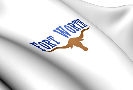 fort: Flag of Fort Worth, USA. Close Up.    Stock Photo