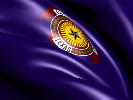 Flag of El Paso, USA. Close Up.    photo