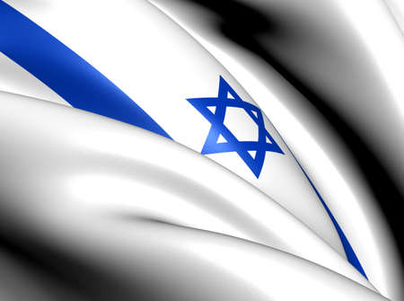 Flag of Israel. Close Up.    photo