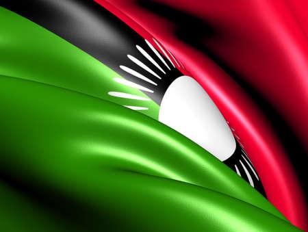 malawi: Flag of Malawi. Close Up.  Stock Photo