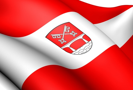 Flag of Petershagen, Germany. Close Up.    Stock Photo - 13525743